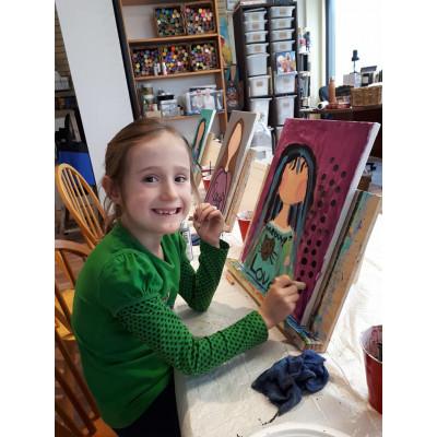 Mardi 6 mars, 8h-12h - Les mamies et les p'tits : Autoportrait peinture