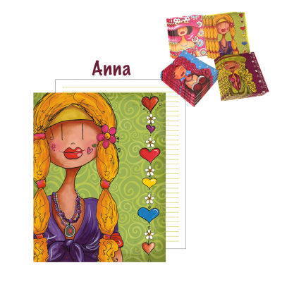 "Grand cahier de notes ""Anna"""