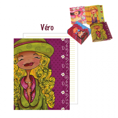 "Grand cahier de notes ""Véro"""