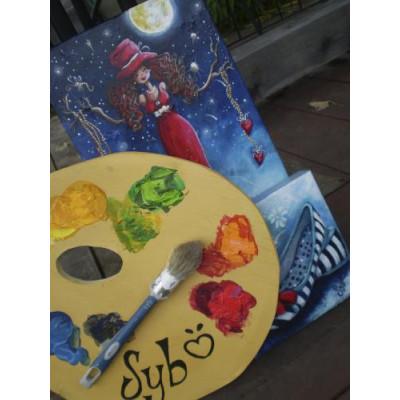 Du mercredi 12 septembre au 3 octobre, 9h-12h - 4 Cours de peinture acrylique