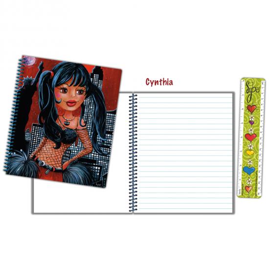 "Cahier à croquis / notes ""Cynthia"""