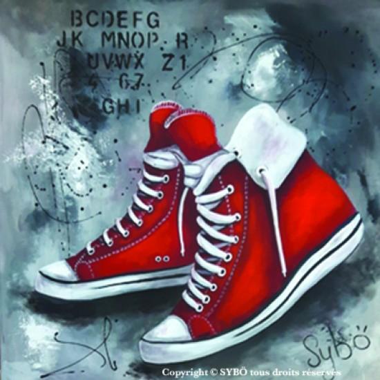 Tableau : Moi mes souliers ont beaucoup voyagé