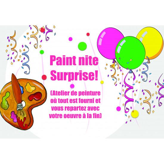 Jeudi 22 mars, 18h-21h - Paint Nite Surprise!!!