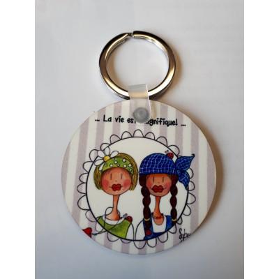 """Porte-clés """"Béatrice et Éloïse"""""""