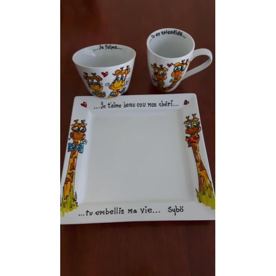 Mardi 6 mars, 8h-12h - Vaisselle bonheurpour enfants : Bol - Assiette - Tasse