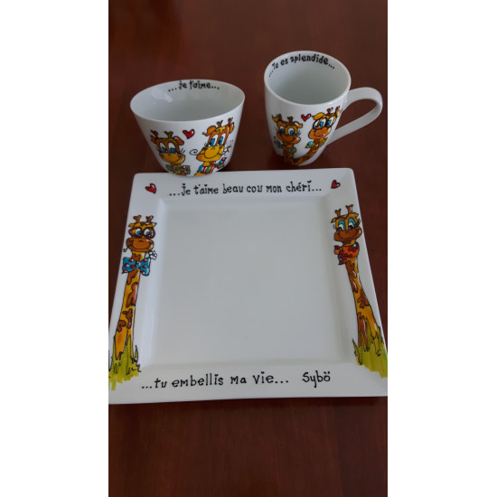 Mercredi 7 mars 8h00-12h00  - Peinture sur vaisselle tasse et bol